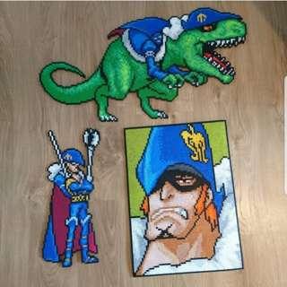 Hama beads design Anime One piece big ass X Drake Trex dinosaur zoan devil fruit