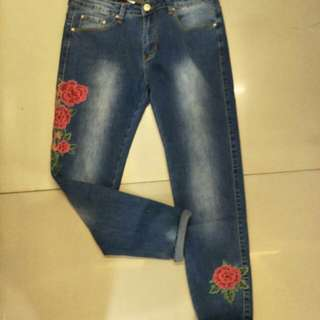 Embroided jeans