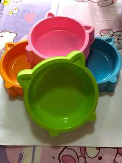 Brand Pet Cat Plastic Feeder Bowl