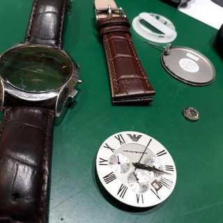 Watch repair change movement