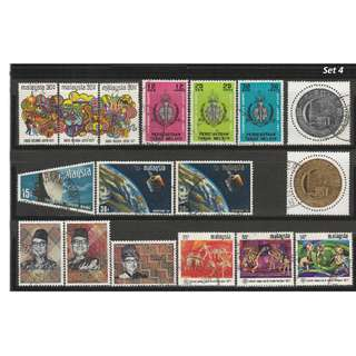 Malaya-Malaysia 1961-1971 6 complete sets of issues used <Set 4>