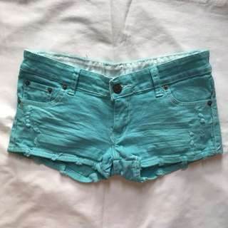 SALE! Blue Green Shorts
