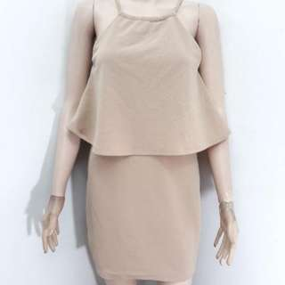 Nude halter dress