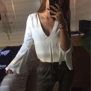 Flared Sleeve Top