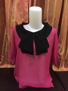 Fuschia Bow Top Pink Pita