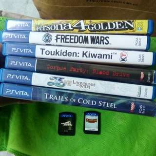 PS Vita games for sale very good condition