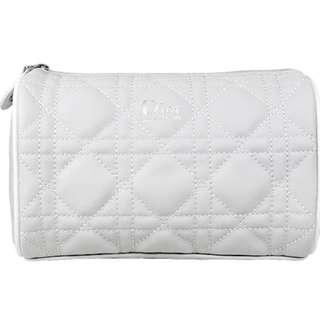Dior 經典菱格灰色化妝袋 (大容量可做筆袋)靚!