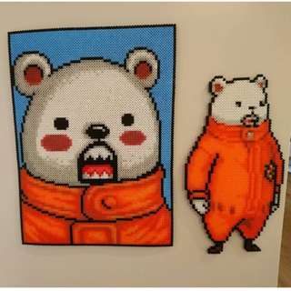 Hama beads design Bepo polar bear mink navigator for the heart pirates and Trafalgar law