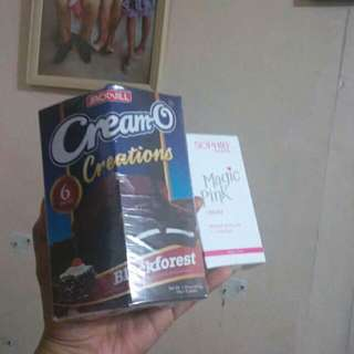 Cream O blackforest and Sophie Pinkcream