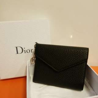 Dior issimo black leather wallet 全新