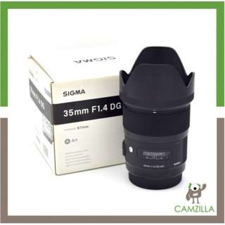 USED SIGMA ART LENS 35mm F1.4DG FOR CANON