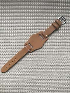 20mm Vintage Brown Leather Bracelet Strap