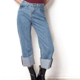 Denim High waisted pants