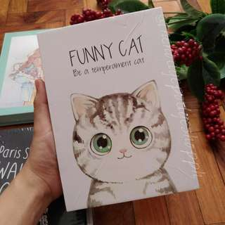 Cute Cat A5 Hardbound Notebook with Box and Combination Lock Set
