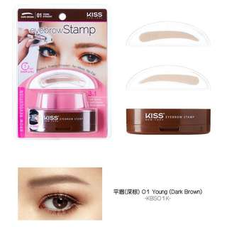 Kiss Eyebrow Stamp in 01 Young (Dark Brown)