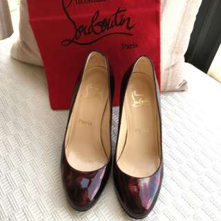 Christian Louboutin   patent leather heel shoes  @Size 37-1/2 #Made in Italy  *