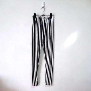 直條紋棉質內搭褲