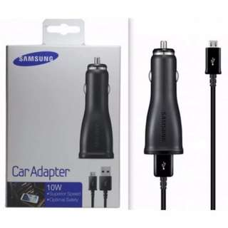 BRAND NEW Authentic Samsung Car Adapter 10W Charger Detachable USB Cable Micro Charging Cable