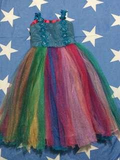 Rainbow Tulle Gown/Dress