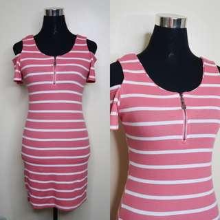 Pre-loved Pink Cold Shoulder Dress