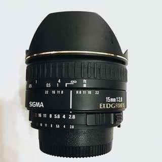 SIGMA 15mm f2.8 魚眼鏡頭EX DG DIAGONAL FISHEYE 廣角鏡頭(for Nikon)