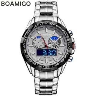 Jam Tangan Analog Digital Pria - F-904 - Silver