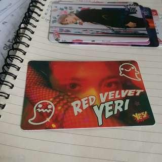 Red Velvet Yeri夜光卡
