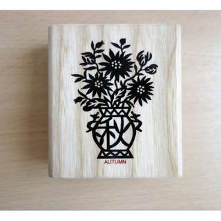 Chinese Paper Cutting Rubber Stamp (Autumn)