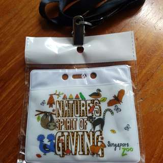 Singapore Zoo card holder &lanyard