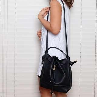 Zara Black Bucket Bag (With Minimal Damage)