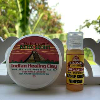 Aztec Indian Healing Clay Mask with ACV