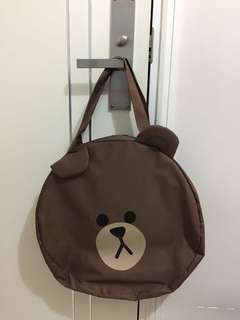 LINE 系列 @ Brown Tote Bag