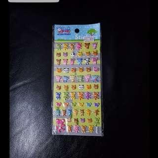[包郵] 全新立體可愛動物貼纸 stickers
