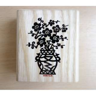 Chinese Paper Cutting Rubber Stamp (Winter)