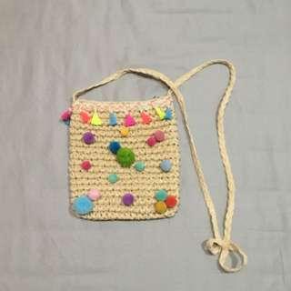 彩色球球編織包