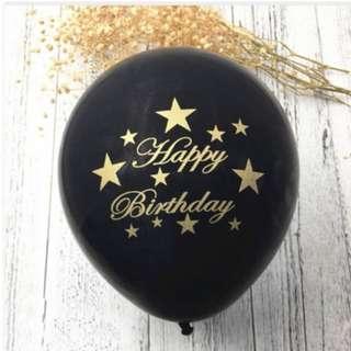 (In Stock) Happy Birthday Ballloons(10pcs)