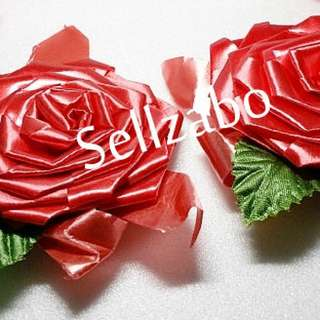 Red Colour Ribbons For Xmas Christmas Gift Presents Wrap Wrapping Sellzabo