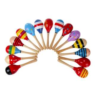Wooden Maracas, Musical Toy, Baby Rattle