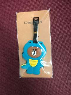 Line Friends Dino luggage tag