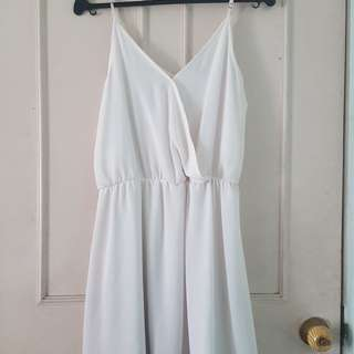 Forever21 White Spaghetti Strap Dress