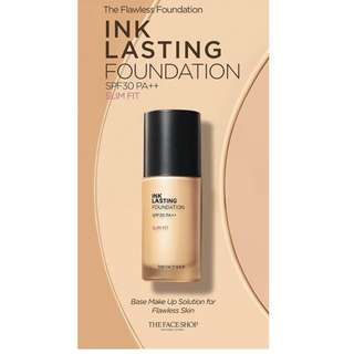 THE FACE SHOP Ink Lasting Foundation Slim Fit  V203 br med beige