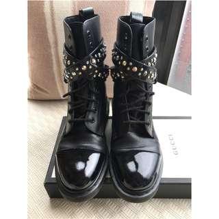 Dr Martens x Swarovski Elements 10 eye ankle strap boots