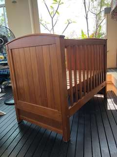 Pine Timber Chateau Baby Wooden Cot - New Zealand