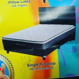 Springbed Single Pillotop Minimalis bisa kredit tanpa DP