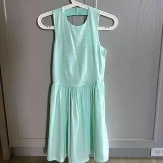湖水綠美背洋裝/裙子