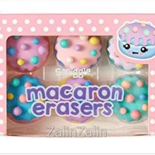 Smiggle macaron eraser set rm20 NEW