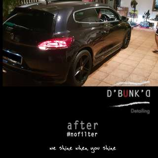 Car Wash + Machine Polish + Tire Shine + Interior & optional Paint Protection Treatment