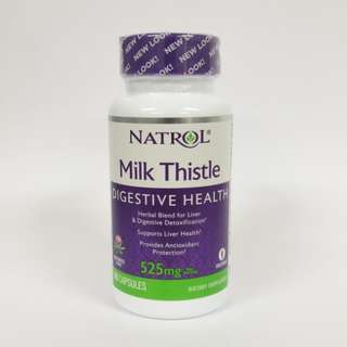 Natrol, Milk Thistle 525mg, 60 Capsules + Free Postage
