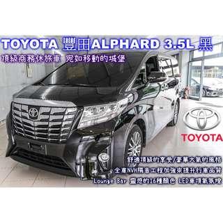 TOYOTA 豐田 ALPHARD 3.5L 黑
