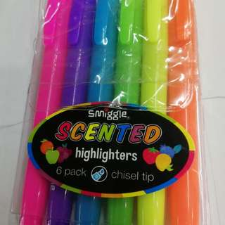Smiggle scented highlighters 6pc pack rm20